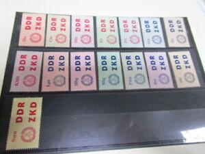 Kontrollmarken des Zentral. Kurierdienstes für die volkseig. Betriebe postfrisch
