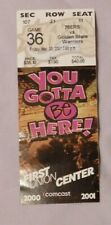 2001 Philadelphia 76ers Vs Golden State Warriors Ticket Stub 3/30/01 Iverson