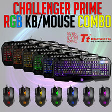 Tt eSPORTS Challenger Prime RGB Backlit Gaming Keyboard & Mouse Combo PC NEW
