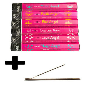 Stamford Angel's Selection Incense Sticks 6 Pack With Wooden Incense Holder