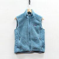 Patagonia Deep Pile Fleece Vest Jacket Womens Size Medium Teal Blue