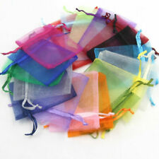 "3""x4"" Organza Favor Bags Drawstring Pouch 10pc packs - free s/h"