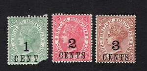Honduras 1891 3 stamps SG#36-38 MH CV=11$