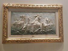 Capodimonte porcelain. Painting relief, bas-relief. Rush of Cavalli