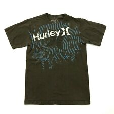 Hurley Big Logo Shirt Size Small S Relaxed Fit Tee Brown Graphic Short Sleeve