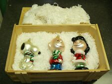 Polonaise Peanuts Ornament Set with Wooden Box