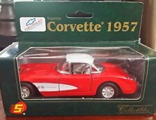 1957 Red Chevy Corvette NIB Superior Die-Cast Collectible Car Model Red Toy Car
