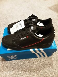 Adidas Continental 80 Mens Trainers Black Size 7.5 BNWT RRP £75