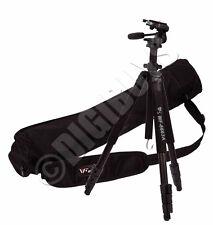 Facncier WT6663A Professional Video Pan Tilt 3 Way Head Tripod Stand + Carry Bag