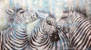 """ZEBRA"" | 140cm x 70cm Handpainted | Textured | Artwork | On Canvas | AUS Stock"
