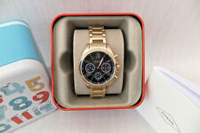 FOSSIL Ladies Chronograph Gold-Tone Stainless Steel Watch New Boxed RRP £139