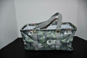 Thirty One TINY Utility Tote in RV There Yet Grey NWT