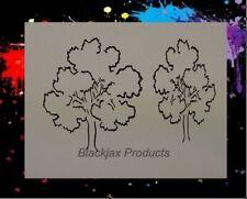 Trees Set 02 Airbrush Stencil, Template