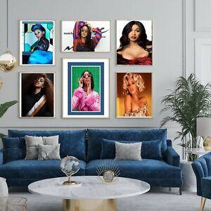 Cardi B American Rap Hip Hop Music Celebrity Print Poster Wall Art Picture A4 +