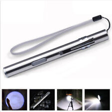 New LED Pen Size Q5 Cree USB Rechargeable Lamp Pocket Flashlight Torch 500lm