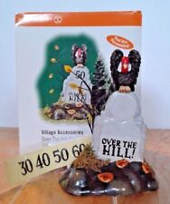 Dept. 56 Halloween Village Accessories Over The Hill Tombstone 56.53072 New