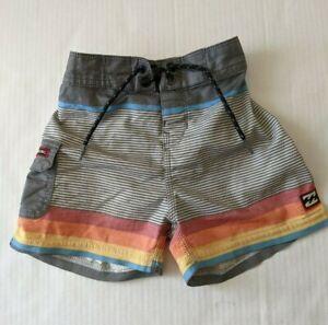 Boys Toddler Billabong Rainbow Sunset Stripe Swim Trunks Shorts Sz 2T