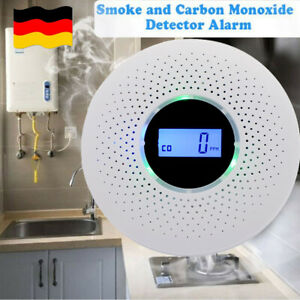 CO-Rauchgas-Kohlenmonoxid-Detektor Combo Warning Tester Alarm Alert Security