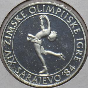 Yugoslavia 1983 100 Dinara proof Winter Olympics 296647 combine shipping