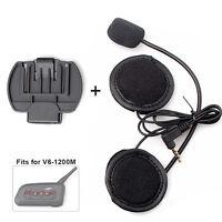 Helm Headset für V6 1200M Motorrad 6Riders Gegensprechanlage Bluetooth Intercom