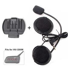 Moto Casco Auriculares Micrófono para V6 Bluetooth Motocicleta Intercomunicador