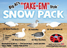 Big Al's Snow Goose 12 Pack Silhouette Decoys - Made In Usa