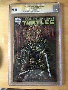 Teenage Mutant Ninja Turtles 21 CGC 9.8 SS Signed Sketch Kevin Eastman IDW TMNT