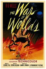 "THE WAR OF THE WORLDS Poster [Licensed-NEW-USA] 27x40"" Theater Size (1953) (ALT)"