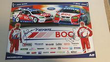 JOHN BOWE BRAD JONES BOC RACING signed Supercars Poster