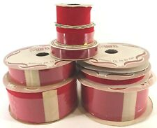 Vintage Red Velvet Ribbon Satin Back WFR Berwick Christmas Lot of 8