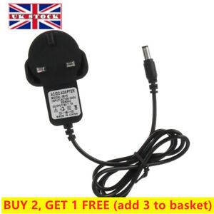 UK Mains UK Plug 100-240V AC/DC Adapter Battery Charger Power Supply 6V 1A