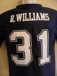 Dallas Cowboys 31 Roy Williams Football Jersey Youth Large Blue Short Sleeves