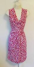 Diane von Furstenberg Noe leopard leaves pink white dress scoop drape 4 Dahlia
