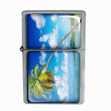 Wind Proof Dual Torch Refillable Lighter Ocean Views Design-005