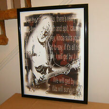 Jerry Garcia, Grateful Dead, Singer, Vocals, Lead Guitar, 18x24 POSTER w/COA 3