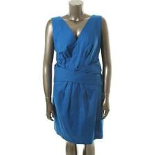 Brand New Designer DKNY Women's knee length  sleeveless  dress in blue 16W Plus