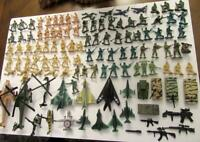 Huge 115pc  Army Men Soldiers Lot  Figures~Vehicles~Helicopters~Airplanes~Guns