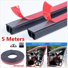 5M Universal B Shape Car Truck Door Edge Rubber Weather Seal Strip Weatherstrip