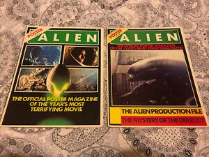 RIDLEY SCOTT ALIEN VINTAGE POSTER MAGAZINE ISSUES 1 & 2 UK EDITIONS NEAR MINT!