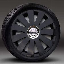 "Black 16"" wheel trims, Hub Caps, Covers to fit Nissan Primastar"