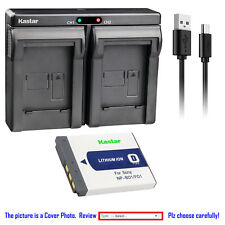 Kastar Battery Dual Charger for Sony Original NP-BD1 NP-FD1 & OEM BC-CS3 BC-CSD