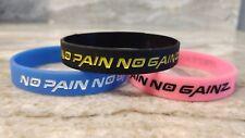 No Pain No Gainz Silicone Wristband Workout gym bodybuilding gains bracelet