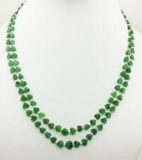 Top Quality GREEN QUARTZ Carved Heart Shape Beaded Necklace With Pearl