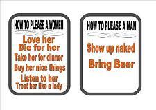 Mujer Sexo signo, Funny Batalla De Los Sexos signo broma divertida signo Bar signo (par)
