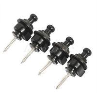 4 Pcs Black Schaller Style Guitar Bass Strap Locks Straplocks