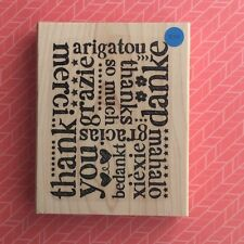 Stampin' Up!® Retired A World Of Thanks Wood Large Background stamp