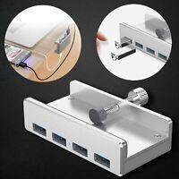 Neu 4-Port USB HUB 3.0 Alu Adapter Verteiler High Speed Kabel Stecker Für PC Mac