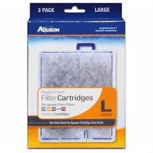 New Aqueon Replacement Cartridge Large Lg 3 Pack. QuitFlow filter 20,30,50,55,75