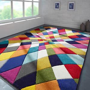 Spectrum Rhumba Rugs Multi Coloured Modern Contemporary Geometric Patterned Rug