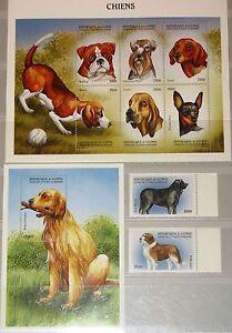 GUINEA 1999 2326-33 Block 581 1517-20 Dogs Hunde Domestic Animals Fauna Tiere **